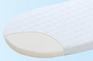Babymatras op maat: matras op maat tot 50x90 ovaal hygieni air